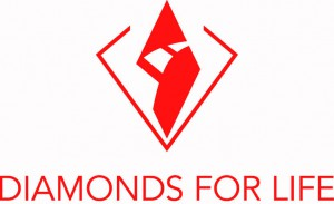 Diamonds for life red logo